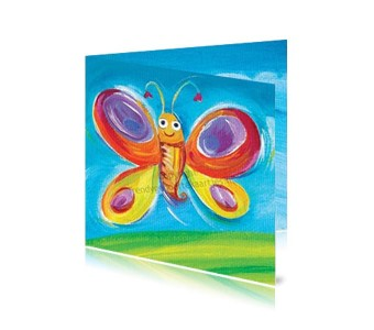Geboortekaartje Jongen Vlinder
