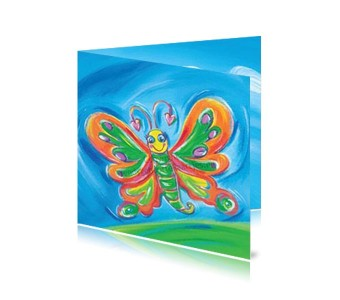 Geboortekaartje Meisje Vlinder