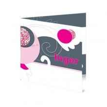 Geboortekaartje Meisje Roze