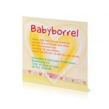 Babyborrelkaartje Mila