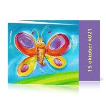 Geboortekaartje Vlinder Jongen