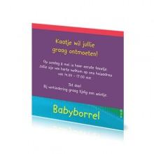 Babyborrelkaartje Kaatje