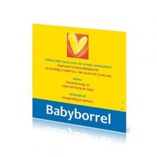 Babyborrelkaartje Vasco
