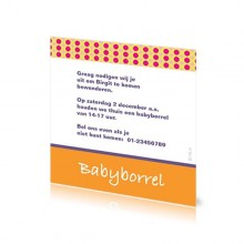 Babyborrelkaartje Birgit