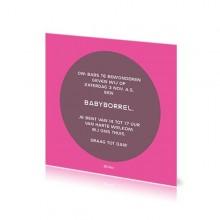 Babyborrelkaartje Babs
