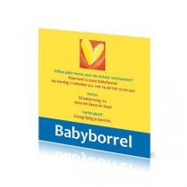 Babyborrelkaartje Veera