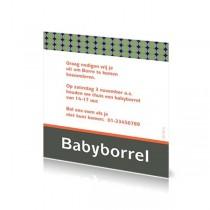 Babyborrelkaartje Borre