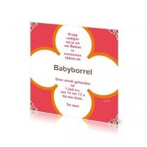 Babyborrelkaartje Robine